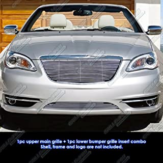 APS Compatible with 2011-2014 Chrysler 200 Billet Grille Grill Insert Combo R81106A