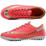 Niber Unisex's TF Soccer Shoes Training Athletic Non-Slip Long Studs Football Shoes for Youth