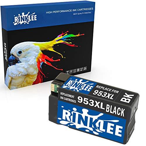 RINKLEE Compatible 953XL 953 XL Negro Alta Capacidad Cartucho de Tinta Reemplazo para HP OfficeJet Pro 8710 8720 8725 7740 8715 8725 8210 7720 8718 8728 8730 8740 7730 8218 8719