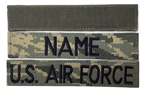 """2 piecee ABU Name Tape & US Air Force USAF Tape with Fastener, 1""""x 5"""" Length"""