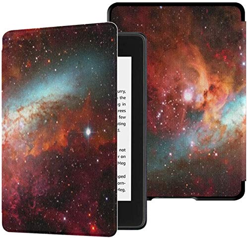 All-New Kindle Paperwhite Water-Safe Fabric Cover(10th Generation, 2018 Release), Nebula Galaxies Deep Space Elements This Tablet Case