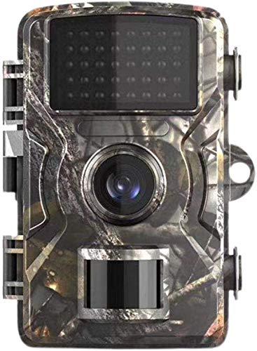 UIGJIOG 12MP FHD 1080P Cámara de Caza, Pantalla LCD de 2 Pulgadas Cámara de Trampa de Caza pequeña Detector de Movimiento Impermeable Gran Angular de 120 °,Natural