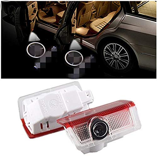 QJZoncuji 2 Stücke Autotür Einstiegsbeleuchtung Projektion Logo Türbeleuchtung Projektor willkommen licht