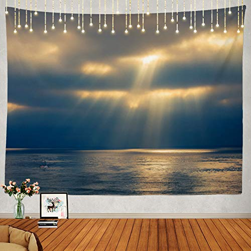 Shrahala Ocean Tapestry, Sky Storm Ocean Sea Cloud Stormy Dark Water Wall Hanging Large Tapestry Psychedelic Tapestry Decorations Bedroom Living Room Dorm