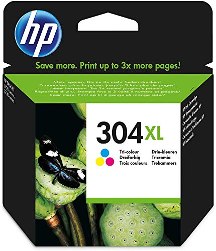 HP N9K07AE 304XL Cartucho de Tinta Original de alto rendimiento, 1 unidad, tricolor (cian, magenta, amarillo)