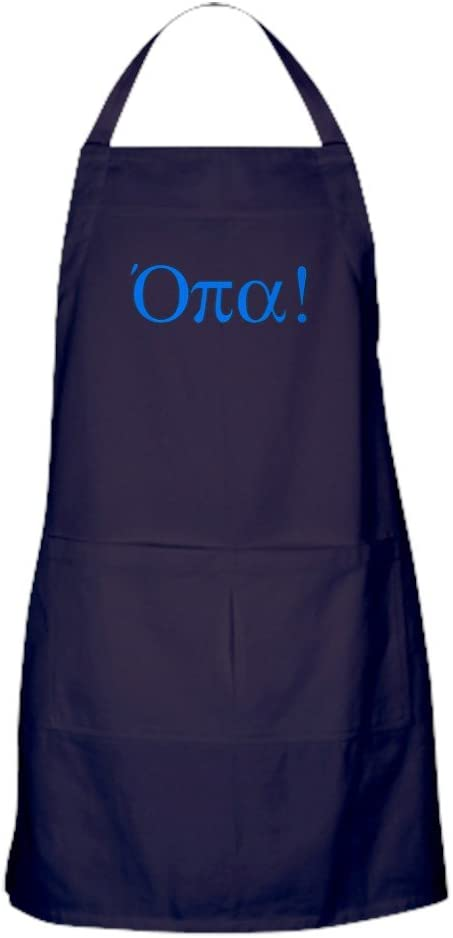 CafePress Opa In Ranking TOP15 Greek Apron with Max 66% OFF Pockets Dark Kitchen