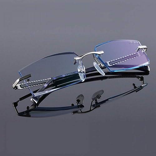 mas barato YMTP Titanio Titanio Titanio Puro Sin Rebordes Diamante Hombre De Corte Gafas Marco ópticas Gafas hombres Gafas  marca famosa