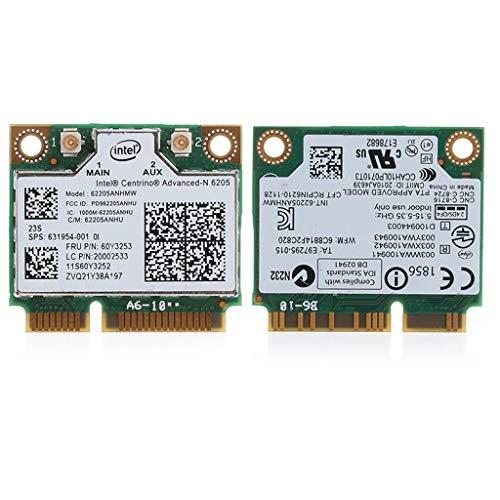 BYNNIX Dual Band 300M Intel 6205 Wireless WiFi Mini PCI-E tarjeta WLAN para HP 8570W 8470W