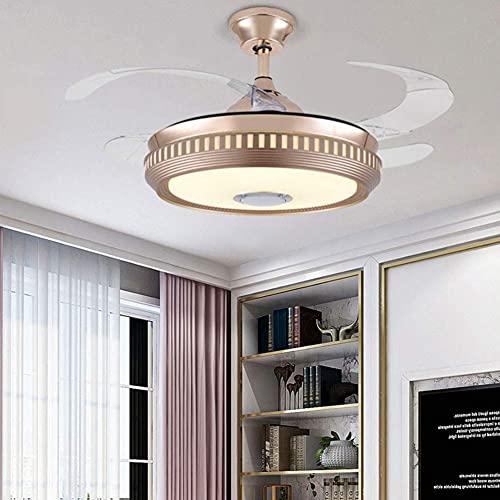Beeki Ventilador de techo con luz y ventilador de techo LED de 42 pulgadas con lámpara, abanico Araña Moderno Ventilador simple Colgante de iluminación de iluminación Luz de control remoto Interruptor