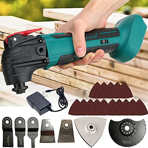 ZhanGe 21V Cordless Oscillating Multi Tool, Battery-Powered Oscillating Saw with 4°Oscillation...