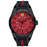 Scuderia Ferrari Orologi Herren-Armbanduhr Red Rev Analog Quarz Silikon 0830248