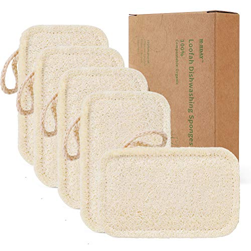 Natural Sponges for Dishes, Loofah Dish Sponges Eco-Friendly - Biodegradable Washing Up Vegetable...