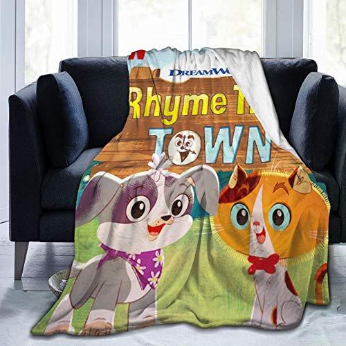 Rhyme Time Town 2 Novelty Blanket Fleece Throw Blanket Super Soft Lightweight for Kids