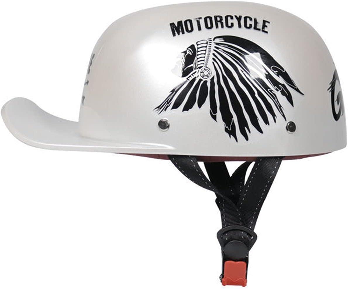 BDTOT Retro Motocicleta Casco De Medio Abierto,Vintage Cascos de Moto Jet para Hombres y Mujeres,ECE Homologado Adultos Casco De Protección Motorista Scooter Cascos Turismo
