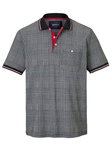 BABISTA Herren Regular Fit Poloshirt mit Hahnentritt-Muster in Schwarz aus Baumwolle