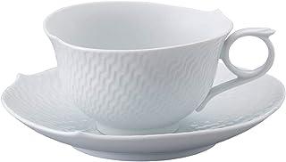 【正規輸入品】 マイセン [MEISSEN] 波の戯れ ホワイト ティー カップ&ソーサー 000000/29633