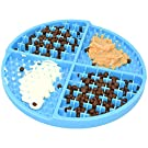 Bangp Slow Feeder Dog Mat,Slow Eating Dog Dishes,Anti-Rollover Puzzle Mat Dog Treat Mat,Durable Dog Licking Mat with Unique Quadrant Design, Add A Variety of Healthy Treats at Once