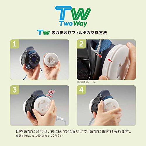 重松製作所『TW防じん・防毒マスク(TW01S)』