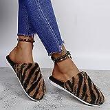 Kirin-1 Zapatillas de casa para Mujer Verano,Zapatillas de Felpa Zapatillas de algodón Zapatillas de Felpa Baotou a Juego de Colores-marrón_39