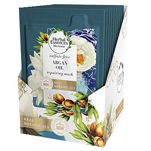 Herbal Essences, BioRenew Argan Oil of Morocco Hair Mask, Color Safe, Moisturize and Restore, 1.7 fl oz, 10 Count