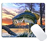 Wknoon Large Mouth Bass Personalized Rectangle Mouse Pad
