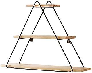 Étagère Flottante Shelf 3 Niveau mur étagère Dépôt for un séjour en bois naturel et noir métal vintage industriel étagère A+