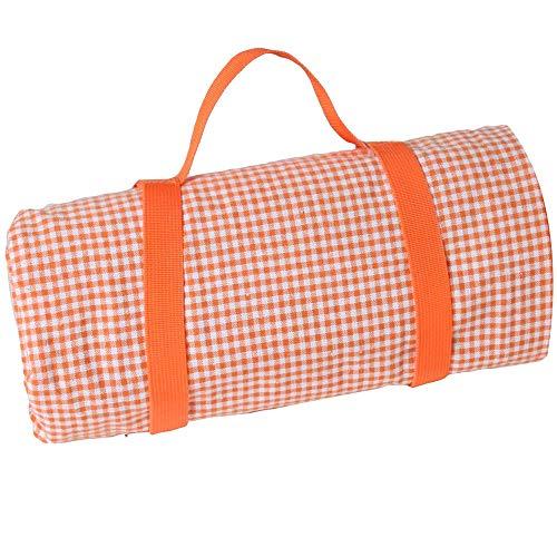 Les Jardins de la Comtesse picknick tafelkleed rechthoekig XL Vichy Oranje – katoen en achterkant waterdicht polyester – 280 x 140 cm – ook voor tuintafel – 8 personen – picknickkleed