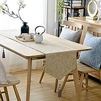 テーブルランナー グレー 黄麻布 テーブルランナー 天然のリネン  パーティー用 結婚式 ベビーシャワー デコレーションダイニングファームハウス 屋外のピクニックテーブル、 4色 (Color : Khaki, Size : 36*220cm)