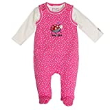 Salt & Pepper Baby-Mädchen BG Playsuit Allover Käfer Strampler, Rosa (Soft Pink 858), 62