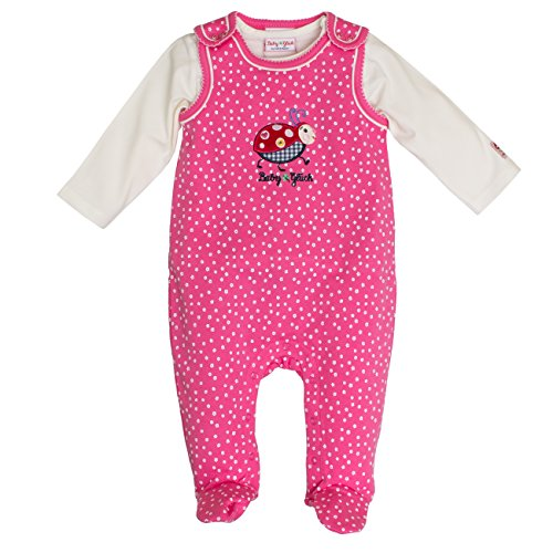 SALT AND PEPPER Baby-Mädchen BG Playsuit Allover Käfer Strampler, Rosa (Soft Pink 858), 56