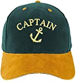 4sold Capitán Ancient Mariner Capitán Boy Crew First Mate Yachting Baseball Cap, 1 x Anchor Captain Green, Talla única