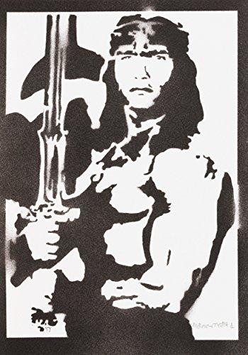 Conan der Barbar Poster Plakat Handmade Graffiti Street Art - Artwork