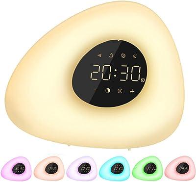 Wake Up Licht Lichtwecker - Sonnenaufgang Sonnenuntergang Simulation Wecker mit Alarm, 10 Helligkeit, Schlummerfunktion, 10 natürlichen Klängen für Erwachsene & Kinder [Energieklasse A+]