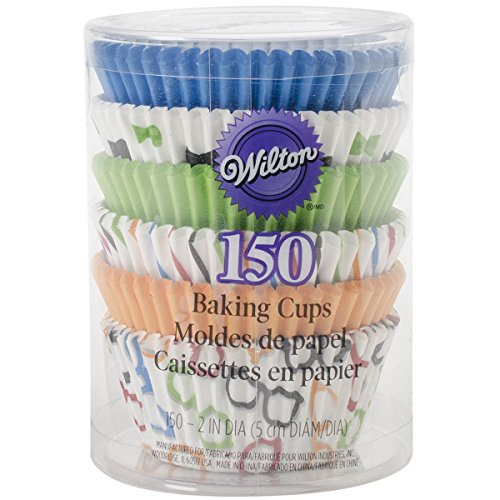 Wilton 150 Count Bow Ties and Basics Baking Cups Value Pack, Assorted