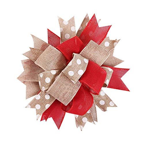 Decoración Colgante de árbol de Navidad Grande, Coronas de árbol de Navidad Decoradas, decoración de Arcos de Navidad Hechos a Mano, Arco de Adorno de árbol de Navidad, Adorno de Arco de árbol de Na