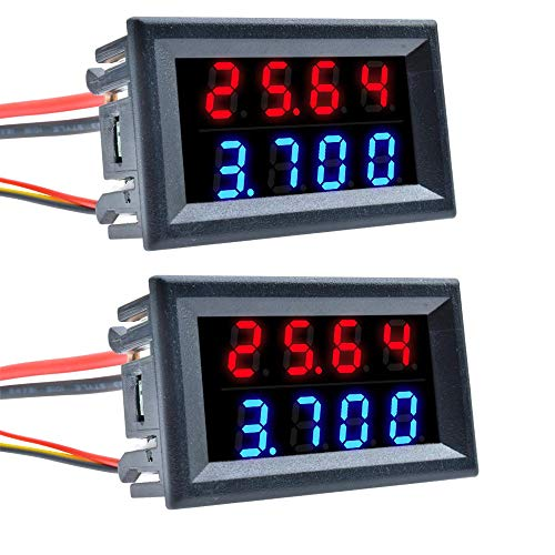 Diymore 2 PCS 0.28'4 bits DC0-100V 10A voltímetro...