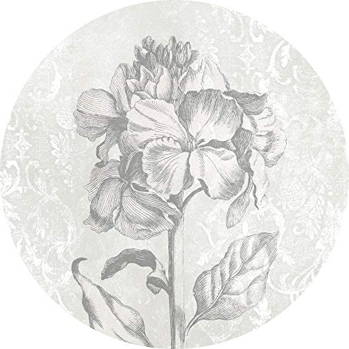 Komar DOT runde und selbstklebende Vlies Fototapete Barock Beauty - Ø Durchmesser 125 cm - 1 Stück - Tapete, Dekoration, Wandtapete, Wandbild, Wandbelag, Designtapete - D1-031