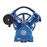 LOYALHEARTDY 3HP Air Compressor Head Pump Motor Cast Iron 2-Stage, 2-Cylinder, 2200W 175PSI (2-Cylinder 3HP)