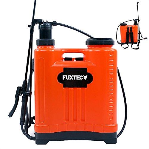 Fuxtec Drucksprüher FX-DS20L, zur Anwendung Aller Sprüharbeiten im Garten, Düngung und Unkraut - & Schädlingsbekämpfung, 20 Liter Tank inkl Tragegurt, geringes Gewicht von 3 kg, Betriebsdruck 10 bar