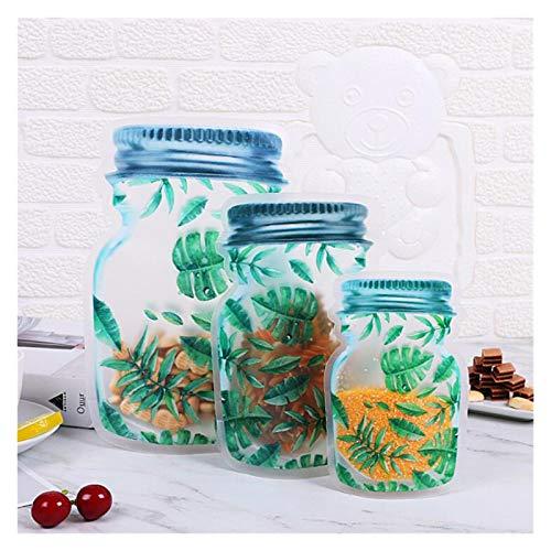 XMZZJJ Ziplock Bolsas, 20 Piezas, Bolsa de Almacenamiento, Bolsa sellada, Bolso en Forma de Botellas, Transparente, Bolsa de Almacenamiento sellada a Prueba de Agua Reutilizable (Color : A3)