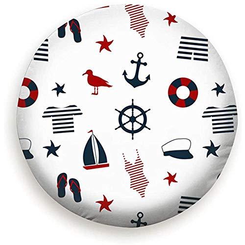 Set di Icone Marine Copriruota per Ruota di scorta per copertoni di Ricambio