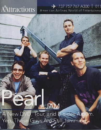 PEARL JAM cover magazine - Attractions (American Airlines) January 2004