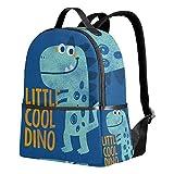 Mochila de dinosaurio azul para mujeres adolescentes y niñas, bolso de moda, bolsa de libros, para viajes, universidad, casual, para niños y niñas preescolares, mini suministros