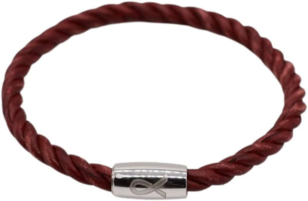 Until There's A Cure Vintage Bracelet High quality - Red Free shipping on posting reviews Leather