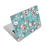 Laptop-Aufkleber für Toshiba HP Samsung Dell Apple Acer Leonovo Sony Asus Notebook (Pfingstrosen-Blume)