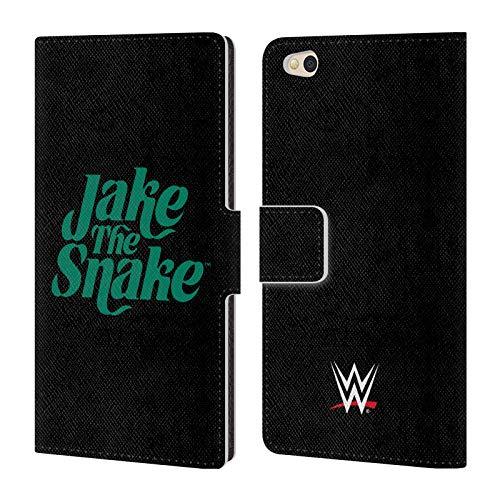 Head Hülle Designs Offizielle WWE Grafik Jake The Snake Roberts Leder Brieftaschen Huelle kompatibel mit Xiaomi Mi 5c
