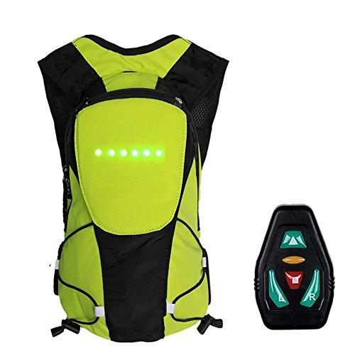 VERLOCO Sac à Dos de Cyclisme, avec Affichage LED arrière et Signal, Clignotant + Couleur Visible + Tissu imperméable, Protection de Conduite sécuritaire, pour Les Hommes et Les Femmes