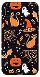 iPhone XS Max Halloween Case Pumpkins Ghosts Witch Candy Corn Bats Skulls Case