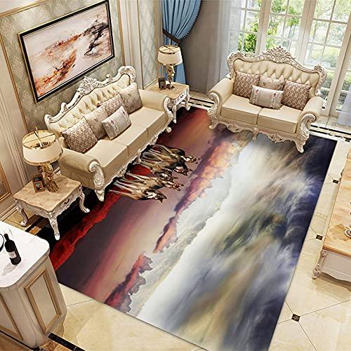 LBMTFFFFFF Alfombra alfombra rectangular alfombra de casa alfombra de terciopelo de cristal suave y delicado con la piel, alfombra de soja, 120 x 160 cm