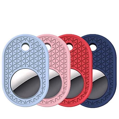 Adecuado para la Cubierta Protectora de Silicona AIRTAG, posicionamiento de la Cubierta Protectora Anti-perdida 4-Piece Set B